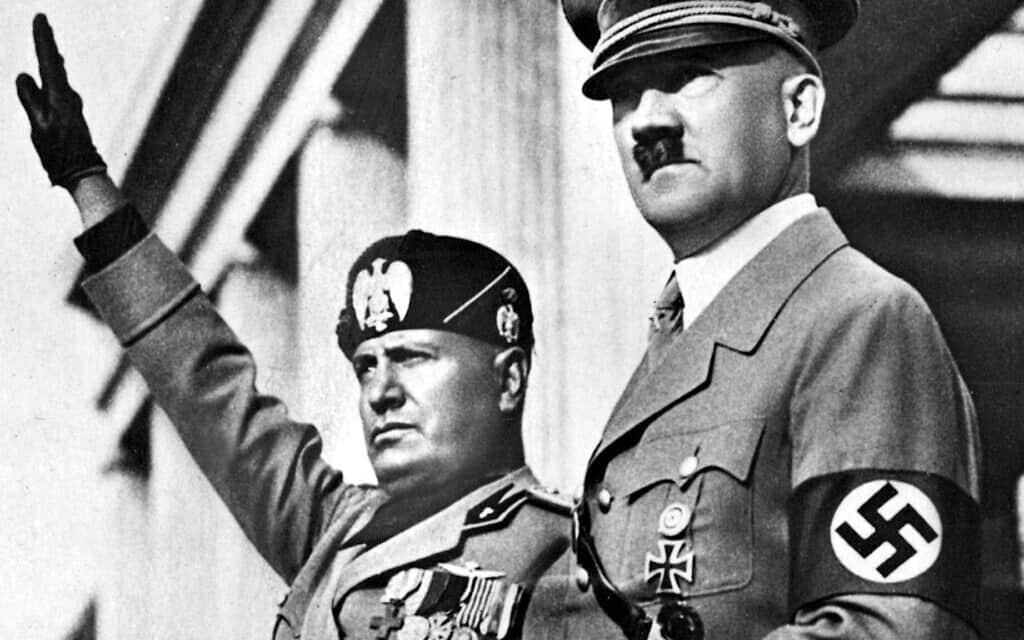 היטלר ומוסליני (צילום: Courtesy of PerlePress Productions)
