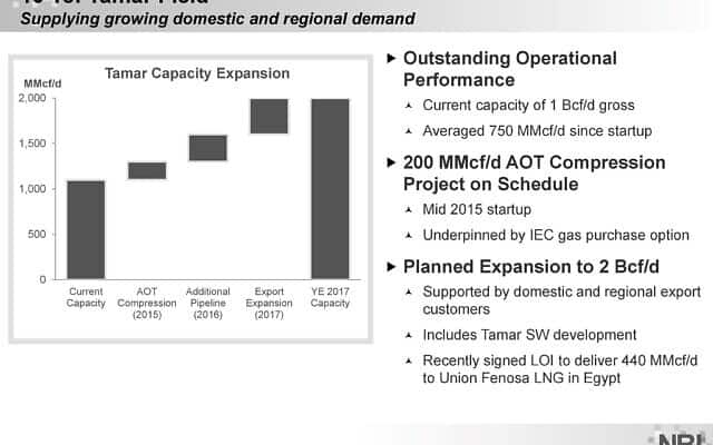 Noble Energy Presentation Tamar Capacity Expansion Sep2014