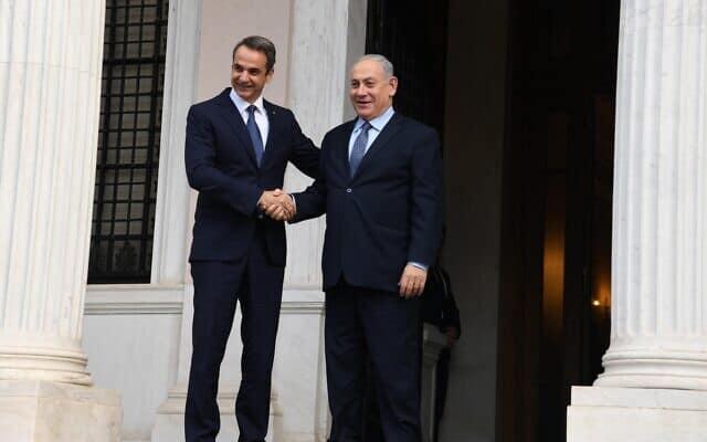 """נתניהו נפגש היום עם ראש ממשלת יוון קיריאקוס מיצוטקיס (צילום: חיים צח / לע""""מ)"""