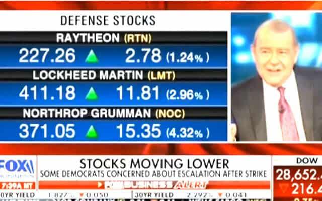 """לוקהיד, רייט'ון, נורט'רופ גרומן, אלו המניות שחשובות בסיטואציה הזו. Nice Gains! """" ~ סטארט וארניי (צילום מסך)"""