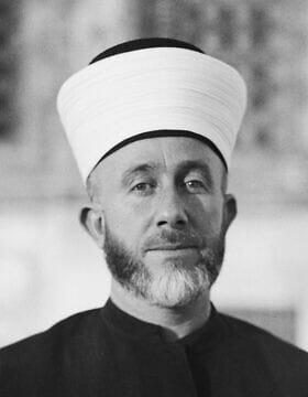המופתי של ירושלים, חאג' אמין אל חוסייני (צילום: ספריית הקונגרס / נחלת הכלל)