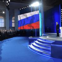 נאום פוטין בפני שני בתי הפרלמנט (צילום: אתר הקרמלין WWW.KREMLIN.RU)