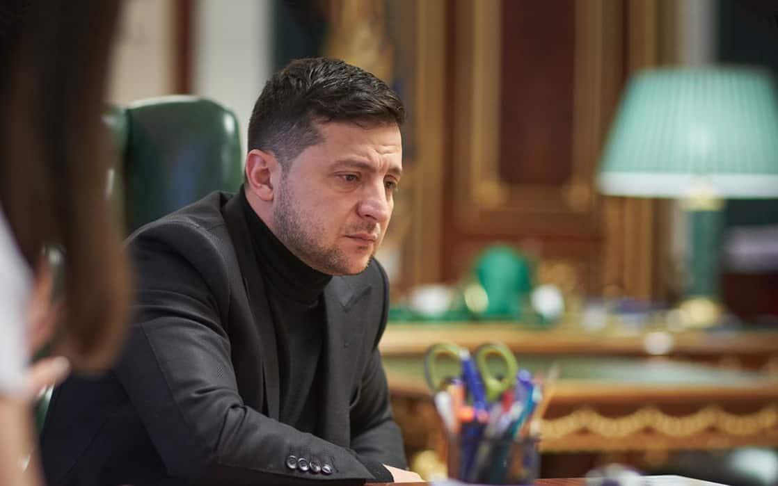 ולדימיר זלנסקי במהלך הראיון לזמן ישראל, ב-18 בינואר 2020 (צילום: Press service of the Office of the President of Ukraine)