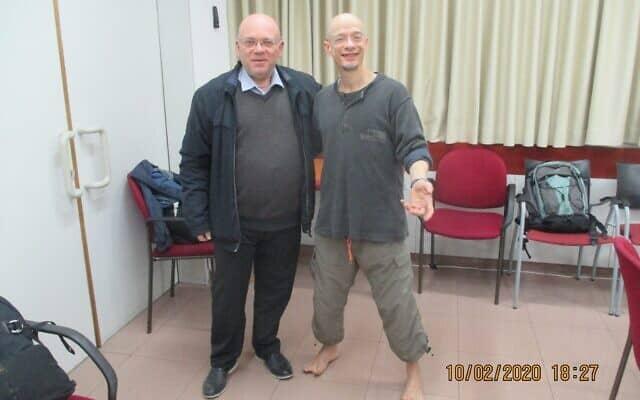 """ד""""ר דניאל מישורי (מימין) מאוניברסיטת תל אביב ופרופ' סטיליאן גלברג מהמשרד להגנת הסביבה (צילום: צילום: עמיר בורנשטיין)"""