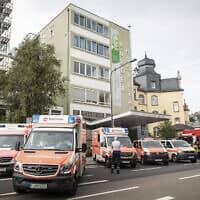 צוותי חירום בפרנקפורט שבגרמניה, ארכיון; למצולמים אין קשר לדיווח (צילום: Frank Rumpenhorst/dpa via AP)