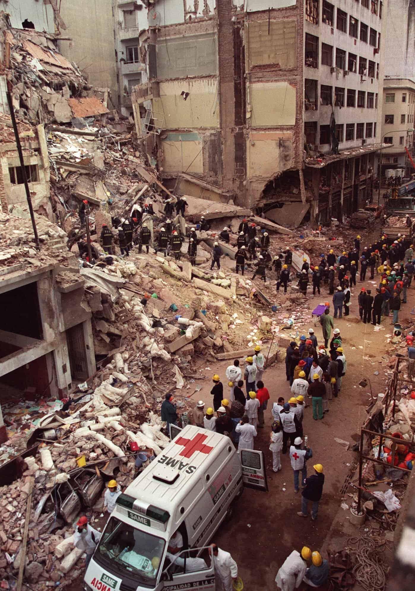 הפיגוע בארגנטינה, 1994 (צילום: AP Photo/Alejandro Pagni, File)