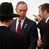מייקל בלומברג בביקור בישראל (צילום: Orel Cohen/FLASH90)