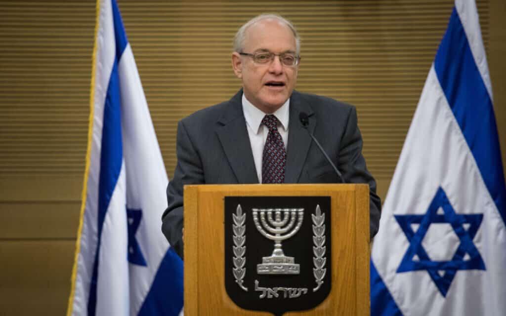 יושב ראש ועדת הבחירות המרכזית, ניל הנדל (צילום: הדס פרוש, פלאש 90)