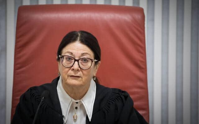 נשיאת בית המשפט העליון, אסתר חיות (צילום: יונתן זינדל, פלאש 90)
