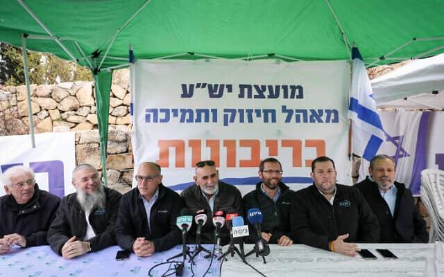 """מאהל מועצת יש""""ע מול משרד ראש הממשלה (צילום: יונתן זינדל, פלאש 90)"""