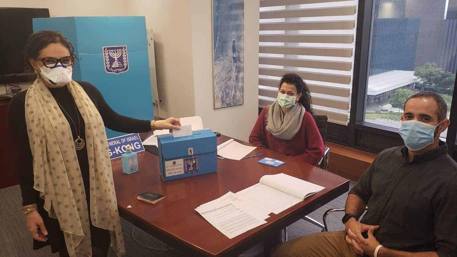 בחירות 2020 בהונג קונג (צילום: דוברות משרד החוץ)