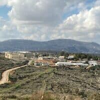 מבט על ההתנחלות איתמר (צילום: יעקב מגיד/Times of Israel)