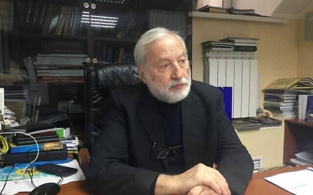 מנהיג הקהילה היהודית באוקראינה ומתנגד המשטר לשעבר יוסף זיסלס, 13 בינואר 2020 (צילום: סימונה ויינגאלס)