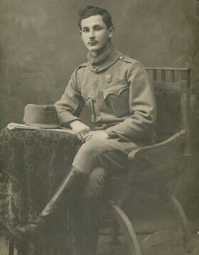 אוסקר רוזן במדי הצבא האוסטרו-הונגרי במלחמת העולם הראשונה (צילום: (צילום באדיבות מייקל רוזן))