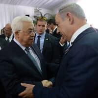 """נתניהו בפגישה עם יו""""ר הרשות הפלסטינית מחמוד עבאס (צילום: עמוס בן גרשון, פלאש 90)"""