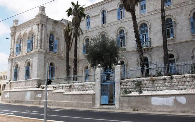 בית החולים הצרפתי של ירושלים ברחוב שבטי ישראל. שליחים צרפתים הגיעו לרחוב החל מ-1874 (צילום: שמואל בר-עם)