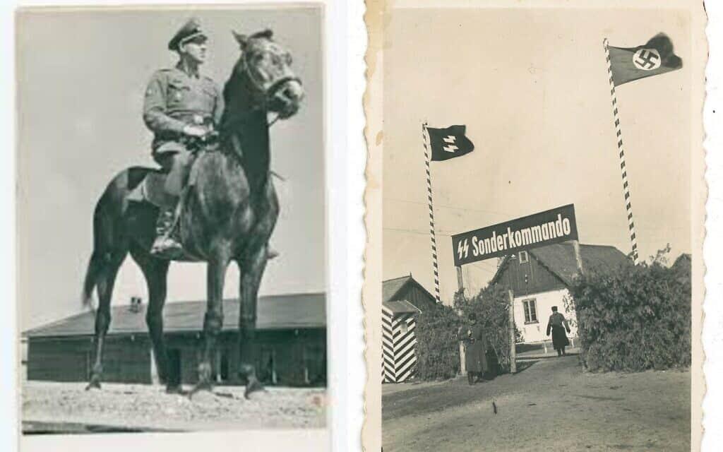 מימין: הכניסה לסוביבור עבור קרבנות שהלכו ברגל או לקחו עגלות אל המחנה. משמאל: יוהאן ניימן בסוביבור (צילום: אוסף הפושע מסוביבור, המוזיאון לזכר השואה של ארצות הברית)