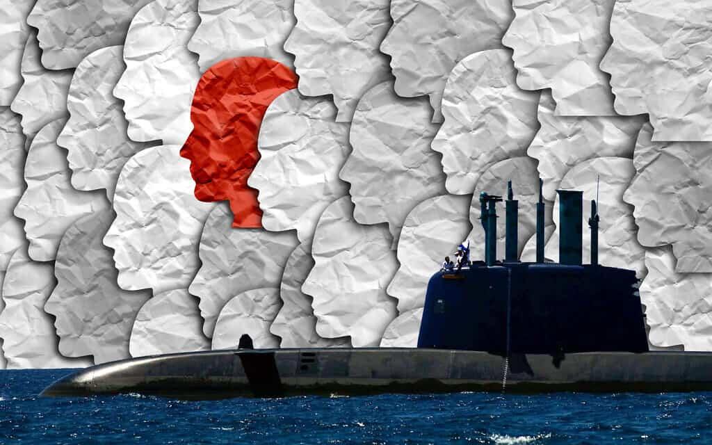 עד מדינה בפרשת הצוללות. אילוסטרציה (צילום: פלאש90/iStock/עיבוד מחשב)