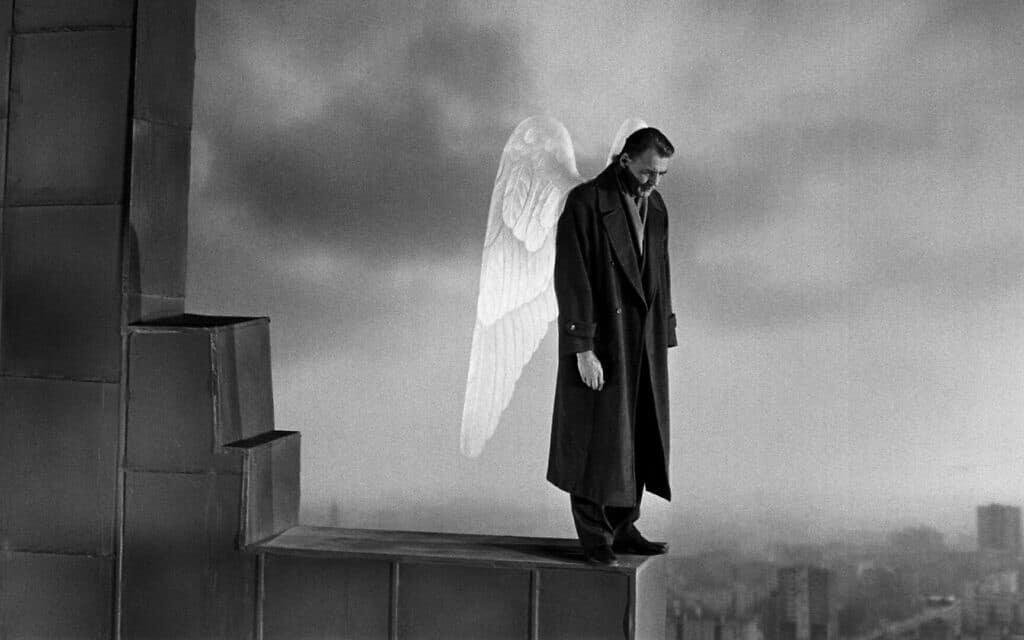 צילום מסך מתוך הסרט מלאכים בשמי ברלין