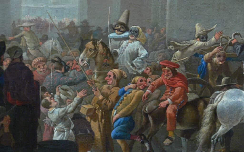 ציור המתאר את הקרנבל ברומא, מסביבות 1650, כיום באוספי המוזיאון לתולדות האמנות בווינה (צילום: Fine Art Images/Heritage Images/Getty Images)