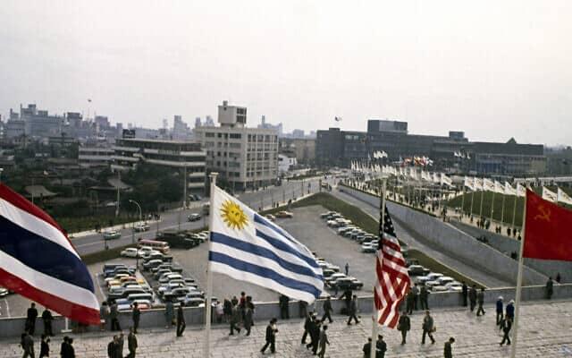 טוקיו מארחת את המשחקים האולימפיים של 1964, ארכיון (צילום: AP Photo, File)