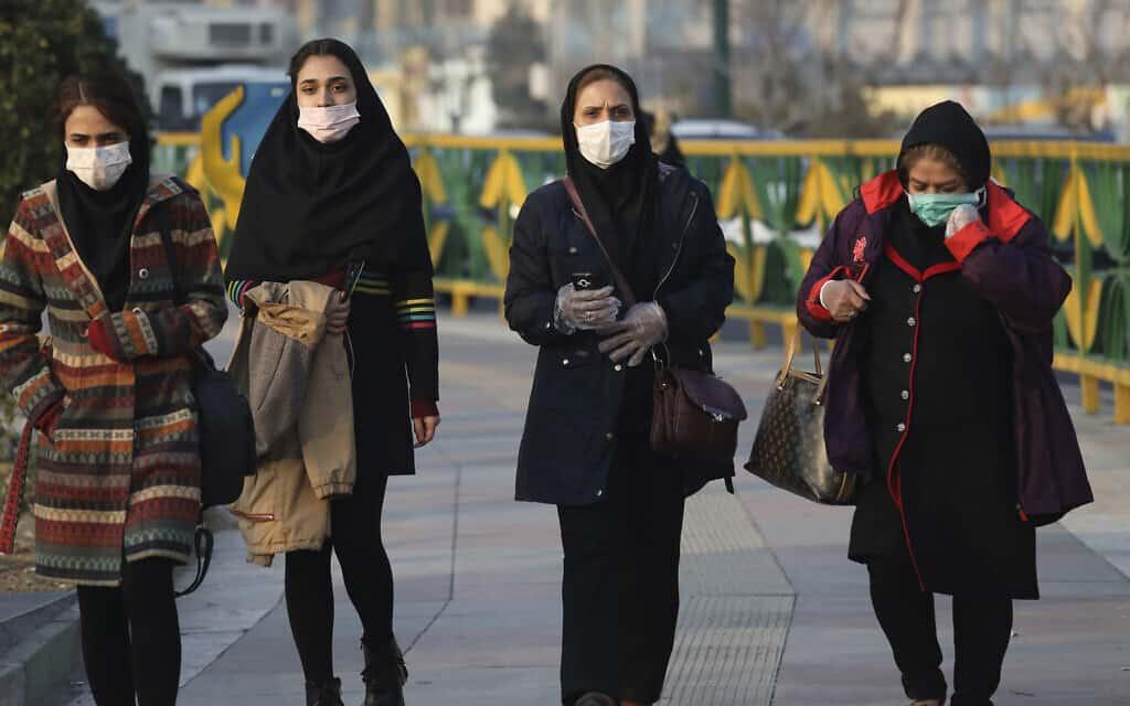 בהלת קורונה באיראן (צילום: AP Photo/Vahid Salemi)