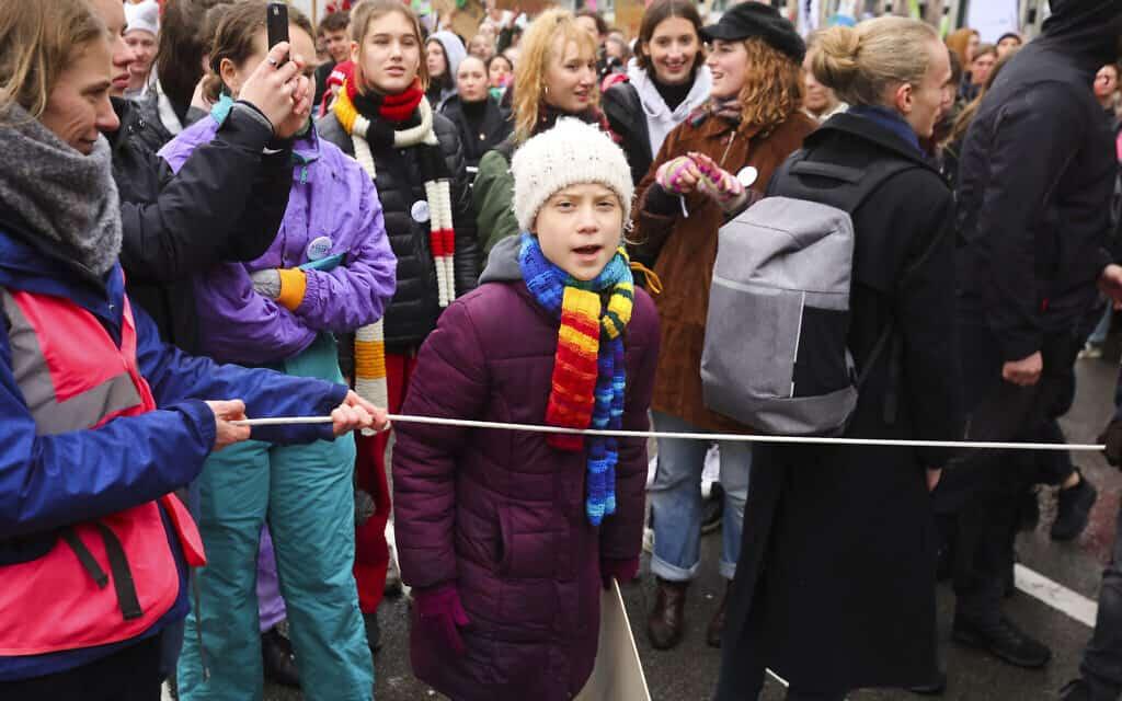 גרטה תונברג, מרץ 2020 (צילום: AP Photo/Olivier Matthys)