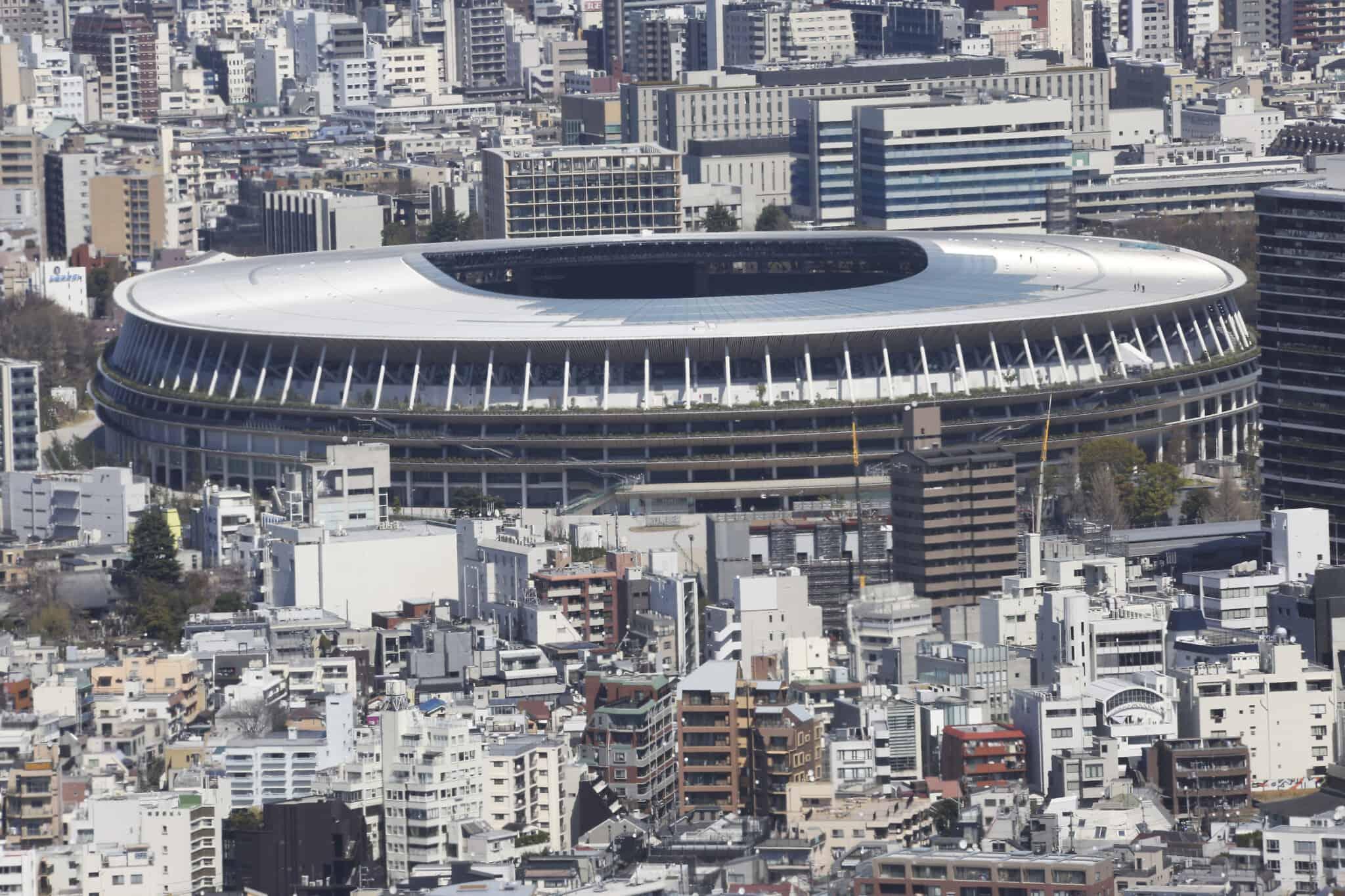 האיצטדיון האולימפי בטוקיו (צילום: AP Photo/Koji Sasahara)