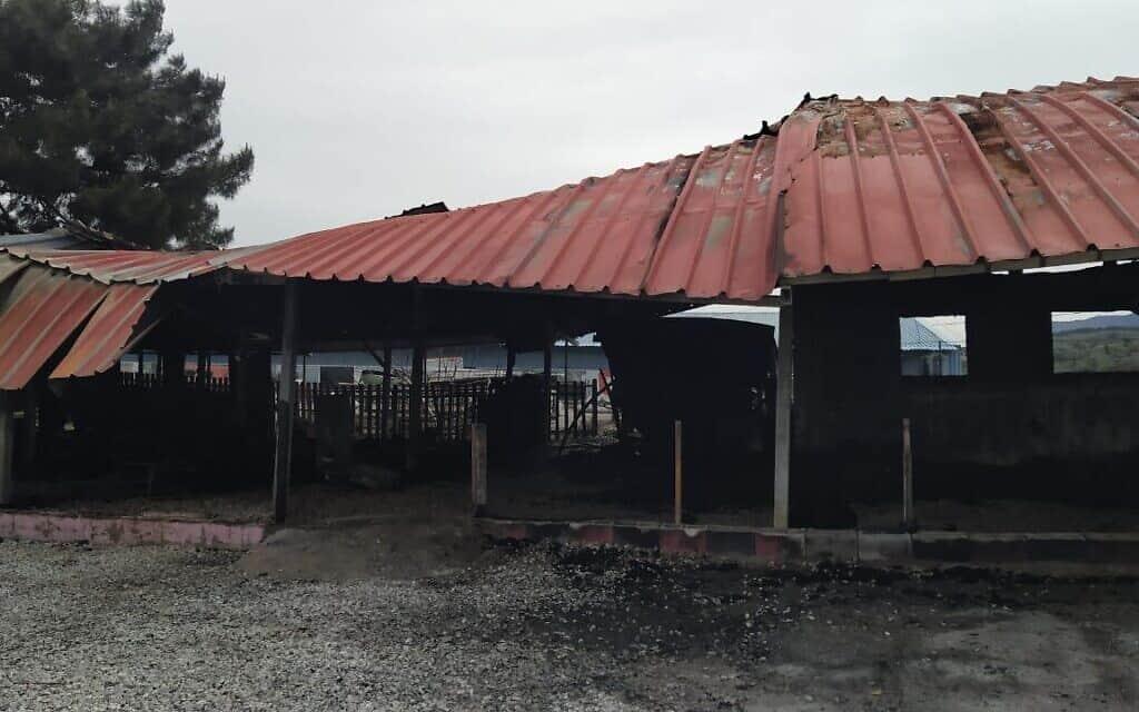 בית הספר לשלום באי לסבוס, אחרי השריפה (צילום: israAID)