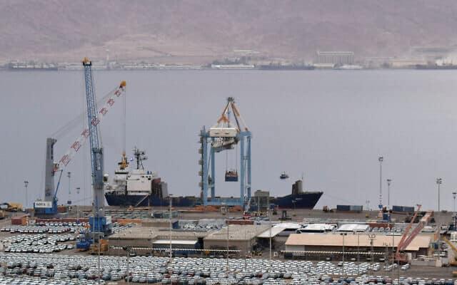 נמל אילת (צילום: Yuda ben Yitach/ Flash90)