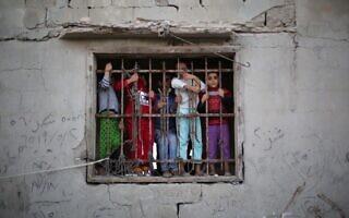 ילדים בעזה (צילום: Hassan Jedi/Flash90)