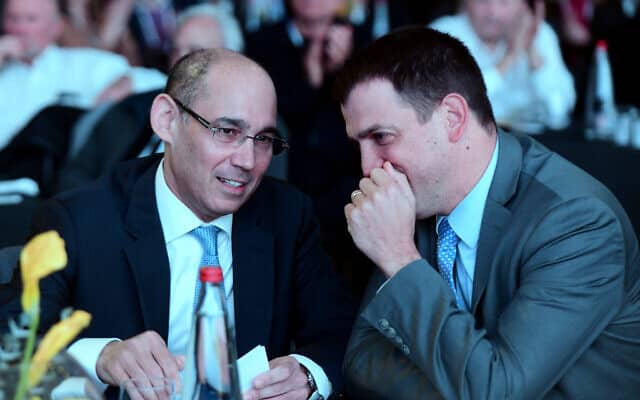 אמיר ירון ושאול מרידור (צילום: Flash90)