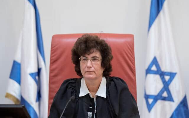 שופטת בית המשפט העליון דפנה ברק-ארז (צילום: אוליביה פיטוסי/פלאש90)