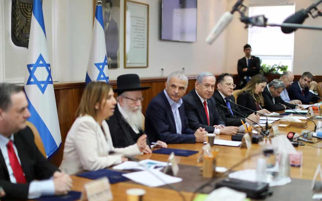 ישיבת הממשלה ב-8 במרץ 2020 (צילום: Marc Israel Sellem/POOL)