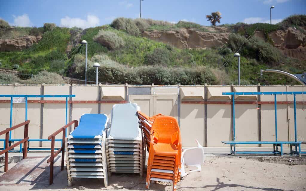 חוף הים של תל אביב, השבוע (צילום: Miriam Alster/FLASH90)