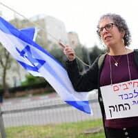 """הפגנה """"להצלת הדמוקרטיה של ישראל"""". 24 במרץ 2020 (צילום: Tomer Neuberg/Flash90)"""