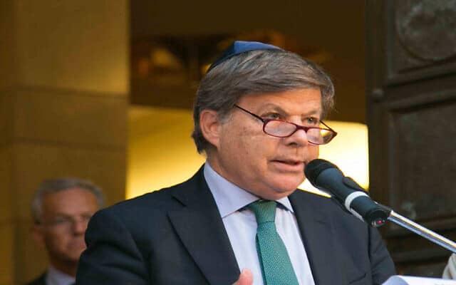 נשיא הקהילה היהודית של מילאנו, מילו חצבאני (צילום: Courtesy)