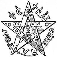 פנטגרם, Eliphas Levi – Levi, Eliphas (1855)