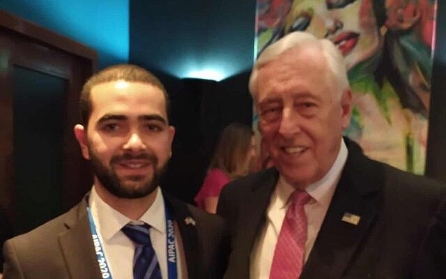 רותם אורג עם חבר הקונגרס סטני הוייר ממרילנד, מנהיג הרוב הדמוקרטי בבית הנבחרים ומגדולי ידידיה של ישראל בקונגרס