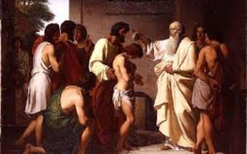 שמואל מושח את דוד למלוכה, ציור: ויקטור ביינורי, 1842, ויקיפדיה. מעלה היצירה: VladoubidoOo