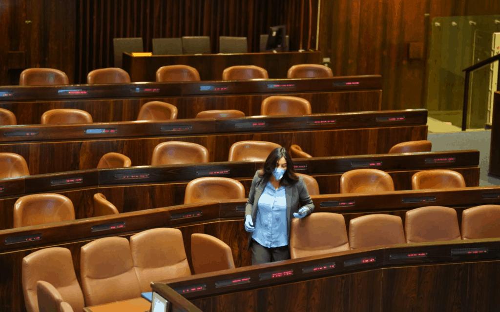 השרה מירי רגב במליאת הכנסת, היום (צילום: שמוליק גרוסמן, פלאש 90)