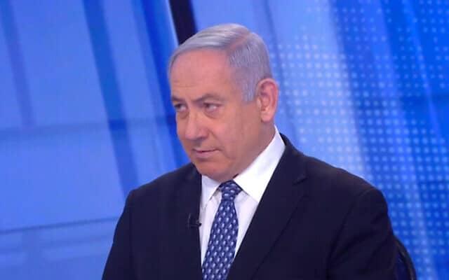 בנימין נתניהו בראיון בחדשות 12. 21 במרץ 2020 (צילום: צילום מסך, חדשות 12)