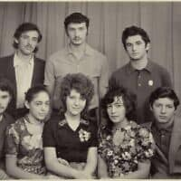 רומן ברונפמן (ראשון מימין) וחברי הילדות שלו בסוף שנות ה-70, רגע לפני עלייתו ארצה
