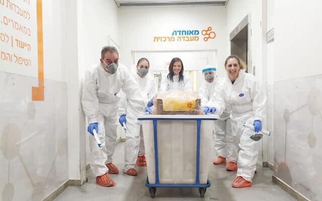 המעבדה המרכזית של קופת חולים מאוחדת (צילום: משרד הבריאות)