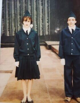 החברים שלי במשמר הכבוד ברוסיה (צילום: מהאלבום הפרטי)