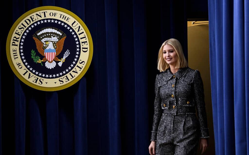 איוונקה טראמפ בבית הלבן, 12 בדצמבר 2019 (צילום: Brendan Smialowski/AFP דרך Getty Images)