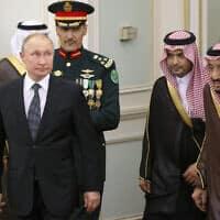 פוטין ובין סלמאן בערב הסעודית, 2019 (צילום: AP Photo/Alexander Zemlianichenko, Pool)