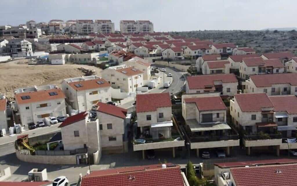 התנחלות אריאל בגדה המערבית (צילום: AP)