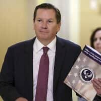 מייקל אטקינסון, מבקר שירותי הביון האמריקאים (צילום: AP Photo/J. Scott Applewhite)