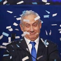 בנימין נתניהו, מרץ 2020 (צילום: AP Photo/Ariel Schalit)
